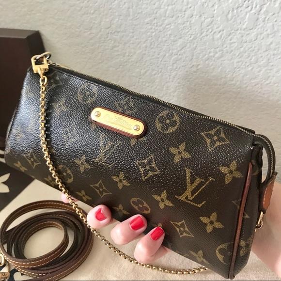 0c416c9246b8 Louis Vuitton Handbags - Louis Vuitton Monogram Eva Clutch Crossbody Bag